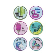 Say It Round Magnets, 6 Pack - Multicolor School Lockers, Round Magnets, 6 Packs, Spice Things Up, Cool Stuff, Diy, Products, Cool Things, Bricolage