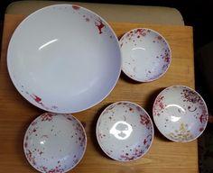 Studio Tord Boontje Red Reindeer 4 Bowls & Large 12in Serving bowl 2006 Target #StudioTordBoontje