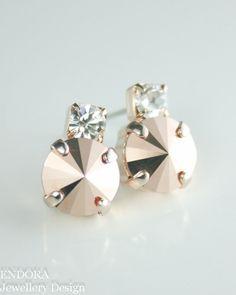Rose Gold Earrings, Rose gold stud earring by #EndoraJewellery, $20.00