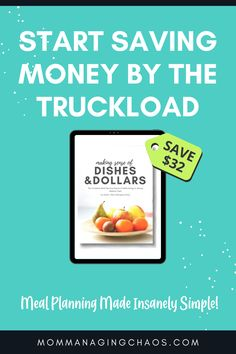 Are you sick of spending too much money on groceries? If you are a family on a budget looking to save more money fast on grcoeries check out Dishes & Dollars Meal planning system.
