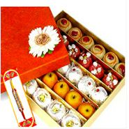 Rakhi with 1 Kg Assorted Sweets with Same Day Rakhi Delivery