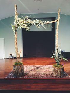 Resultado de imagen para how to make a portable wedding backdrop frame with PVC piping