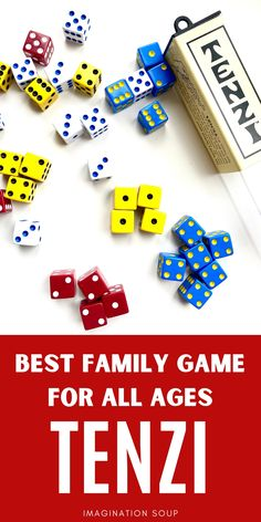 Tenzi is the BEST Family Night Game for Kids Ages 4 to We love this fast, easy to play dice game. Dice Games, Fun Games, Hollywood Game Night, Build Your House, Learning Games For Kids, Building For Kids, Family Game Night, Educational Games, Best Games