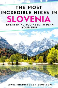 Slovenia is a lesser-discovered travel destination in Europe with world-class hiking through the Alps. Summer hikes vary from to expeditions and take in the country's amazing sights such Lake Bled, Julian Alps, Caves and Triglav. Europe Travel Guide, Travel Guides, Travel Destinations, Hiking Europe, Budget Travel, Slovenia Travel, Visit Slovenia, Les Continents, Julian Alps