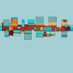 "Saatchi Art Artist Deborah Batt; Painting, ""Community 7 acrylic on canvas 30x30x2 "" #art"