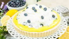 A sweet treat! Lemon Blueberry Tart by Katie Jacobs! Don't miss Home & Family weekdays at on Hallmark Channel! Blueberry Recipes, Lemon Recipes, Sweets Recipes, Easter Recipes, Easter Food, Easter Crafts, Summer Desserts, Fun Desserts, Delicious Desserts