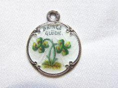 WW I. guilloche enamel silver(800) luck medallion...