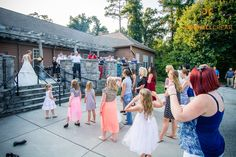 Bouquet Toss at The Drummond Center in Greenwood, South Carolina