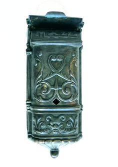 Victorian Mailbox Vintage Tiffany Agaed Solid Brass Heavy Front Door Hardware Thekingsbay