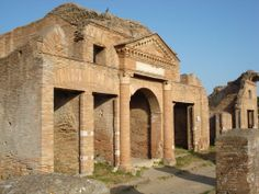 Wk 9 Façade of the Horrea Epagathiana, Ostia, 145-150