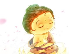 Little Buddha art ☸️ Shiva Art, Krishna Art, Hindu Art, Baby Buddha, Little Buddha, Buddha Doodle, Buddha Art, Lord Shiva Painting, Buddha Painting