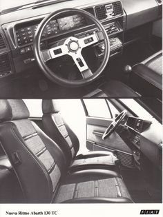 Fiat Ritmo Abarth 130 TC dashboard & interior (Salon Brussels, 1/84)
