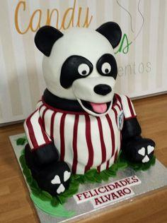 TARTA FONDANT PANDA ATLETI, FONDANT CAKE PANDA
