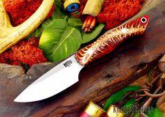 Bark River Knives: Kalahari Bushman - Red Pinecone