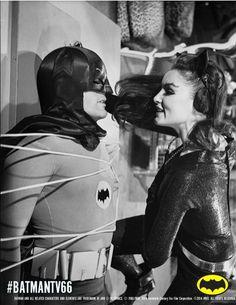 Adam West and Julie Newmar on Batman TV Series Batgirl And Robin, Batman And Batgirl, Batman 1966, Im Batman, Batman Robin, Batman Batmobile, Superman, Batman Tv Show, Batman Tv Series
