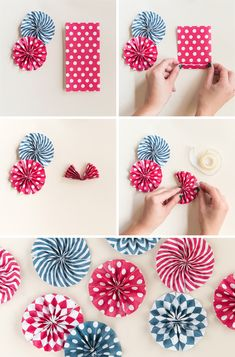Free patterned paper fan printables holidays of july ори Wreath Crafts, Paper Crafts, Diy Crafts, Diy Paper, 4th Of July Party, Fourth Of July, The Birth Of Christ, Diy Birthday Decorations, Xmas Wreaths