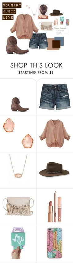 Summer Concert Style by allensboots on Polyvore featuring Canvas by Lands' End, TWIG & ARROW, Kendra Scott, Stetson and Dolce Vita