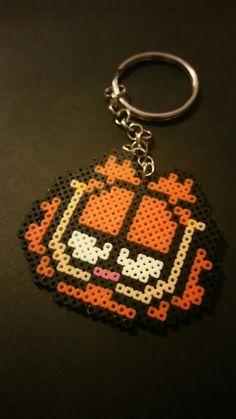 Garfield mini pearler bead  keychain