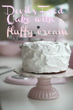 Recipe for devil's food cake with fluffy frosting. Follow me on ...