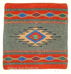 "Just one of our colorful Azteca pillow cover designs. 18x18"" Woven acrylic. Only $21.95 w/ FREE SHIPPING #pillows #homedecor #western #southwestern #nativeamerican"