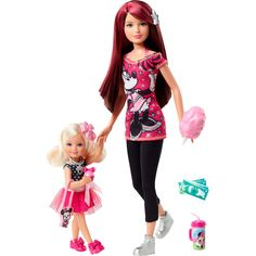 Barbie Loves Disney Skipper and Chelsea Dolls