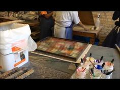 ▶ DIY Paper Marbling - Instructions & Supplies: Several techniques. Over marbling, Italian hair vein w Photo-flo, Feather, stone, waves, Angelwings, S-curves, Metallic,  Double Prints, etc