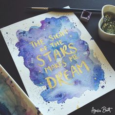 For my part I know nothing with any certainty, but the sight of the stars makes me dream. - Vincent Van Gogh— February - Quotes about stars / moon / the night sky Requested by shannonashleigh90 and bergeron-37 I really despise this gold ink. It's so...