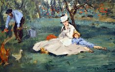 Edouard Manet: The Monet Family in Their Garden at Argenteuil, 1874,  Metropolitan Art Museum NYC