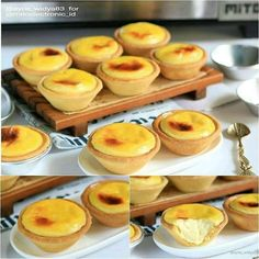 Bake Cheese Tart, Cheese Tarts, Baked Cheese, Donut Recipes, Cookie Recipes, Snack Recipes, Snacks, Indonesian Desserts, Asian Desserts
