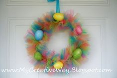 Fun Easter tulle wreath