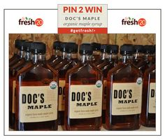 Organic maple syrup from Doc's.  Yum.  #getfresh www.docsmaple.com