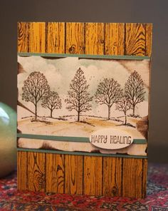 Lovely as a Tree masculine get well/speedy recovery card by CAKath
