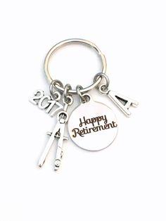Retirement Gift For Firefighter Keychain    Fireman