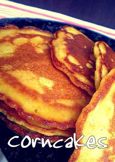 Corncakes (Corn Pancakes) for the little man! | Feats of Feasts | A Food Blog