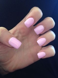 light pink acrylic nails