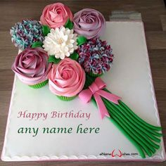 Write name on Flower Bouquet Cake with Name Editing with Name And Wishes Images and create free Online And Wishes Images with name online. Mothers Day Cake, Mothers Day Quotes, Mothers Day Crafts, Happy Mothers Day, Crafts For Kids, Earth Day Crafts, Earth Day Projects, Birthday Wishes Cake, Happy Birthday Cakes