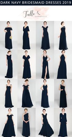 Dark Navy wedding color ideas with bridesmaid dresses Source by tullechantilly dresses Navy Bridesmaid Dresses, Wedding Bridesmaids, Navy Blue Bridesmaid Dresses, Burgundy Bridesmaid, Event Dresses, Wedding Dresses, Wedding Entourage Gowns, Bridal Gowns, Designer Dresses