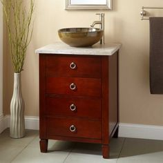 Best Photo Gallery Websites  Light Cherry Vanity Cabinet Vessel