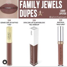 Velour Liquid Lipstick, Lipstick Dupes, Lipstick Shades, Makeup Dupes, Beauty Dupes, Family Jewels, Face And Body, Blush, Make Up