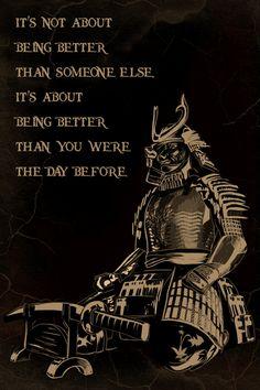 Samurai Poster - Nobody is born a warrior Wisdom Quotes, True Quotes, Great Quotes, Motivational Quotes, Inspirational Quotes, Qoutes, Samurai Quotes, Bushido, Martial Arts Quotes