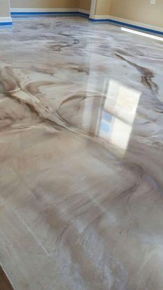 resina epoxi marmorizada bege e branca