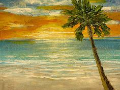 Tropical-Sunset-1- by Sunny Williams, Acrylics. www.sunnywilliamsfineart.com