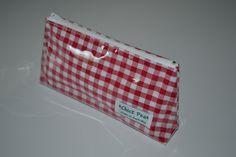 Red Gingham Pencil Case / Treasure Bag