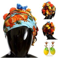 Outsanding Headpiece with fruits for women Crochet Hood, Hats For Women, Clothes For Women, Hooded Scarf, Scarf Hat, Headpiece, Wool, Silk, Fruit
