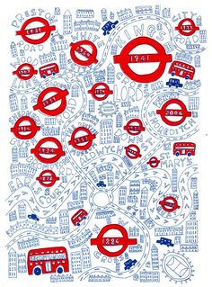 Fun London map by Steph Marshall #london #map