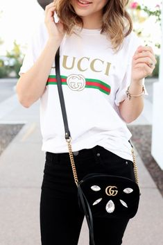 f7031968a1d How To Style An Oversized Tee. Gucci Shirt ...