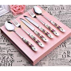 Cutlery Set, Flatware, Knife And Fork, Steak, Korean, Suit, Stainless Steel, Tableware, Dinnerware