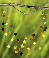 Galaxy of Amber Five-Strand Necklace &  purchase benefits animal rescue via The Animal Rescue Site