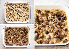 Oven Baked Mushroom Rice - buttery, garlicky, golden brown juicy mushrooms and fluffy rice, all made in one pan in the oven! Healthy Rice Recipes, Vegetarian Recipes, Cooking Recipes, Mushroom Rice, Mushroom Recipes, Baked Mushrooms, Stuffed Mushrooms, Vegetarian Chicken, Recipetin Eats