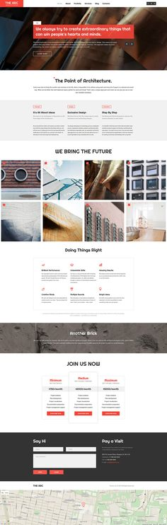 Architecture Responsive WordPress Theme. Additional features, comprehensive documentation and stock photos are included.
